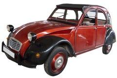 Vecchia vettura compact rossa Fotografia Stock