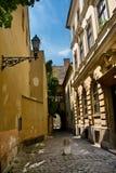Vecchia via a Budapest Fotografia Stock