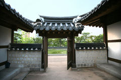 Vecchia via coreana Fotografie Stock