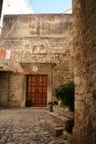 Vecchia via croata in Trogir Fotografia Stock Libera da Diritti