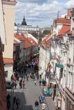 Vecchia via dei city_Piles di Vilnius Fotografia Stock Libera da Diritti