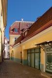 Vecchia via della città Immagine Stock