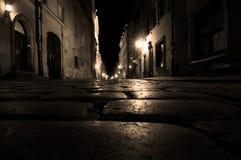 Vecchia via della città Fotografia Stock