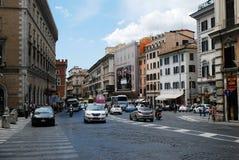 Vecchia via della città antica di Roma Immagini Stock Libere da Diritti