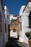 Vecchia via della città della Grecia fotografia stock libera da diritti