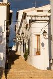 Vecchia via della città di Altea Fotografia Stock