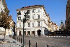 Vecchia via della città di Praga Fotografia Stock Libera da Diritti