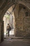 Vecchia via della città a Gerusalemme Israele Fotografia Stock Libera da Diritti