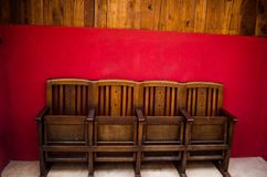 Vecchia via della sedia Immagine Stock