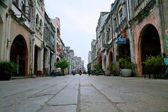 Vecchia via di Beihai, il Guangxi fotografia stock libera da diritti