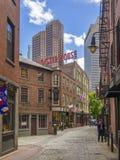 Vecchia via di Boston, mA U.S.A. Fotografia Stock