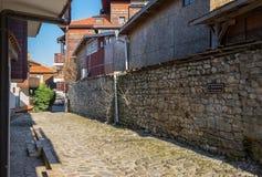 Vecchia via di Città Vecchia Nessebar Fotografia Stock