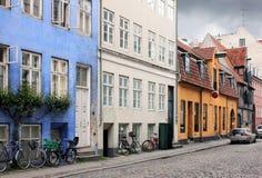 Vecchia via di Copenhaghen Immagine Stock Libera da Diritti