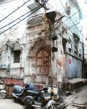 Vecchia via di Delhi Fotografia Stock Libera da Diritti