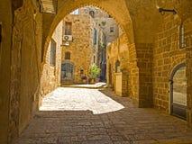 Vecchia via di Giaffa, Israele Fotografia Stock Libera da Diritti