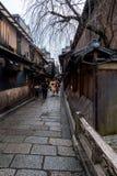 Vecchia via di Gion fotografie stock libere da diritti
