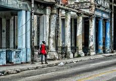 Vecchia via di Havana Cuba Immagine Stock Libera da Diritti
