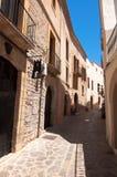 Vecchia via di Ibiza Immagine Stock Libera da Diritti
