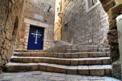 Vecchia via di Jaffa Immagine Stock Libera da Diritti
