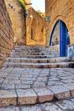 Vecchia via di Jaffa fotografie stock libere da diritti