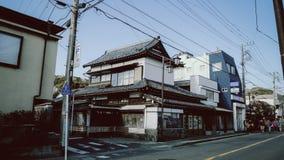 Vecchia via di Kamakura fotografie stock libere da diritti