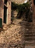 Vecchia via di Kotor. Fotografia Stock Libera da Diritti