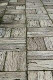 Vecchia via di legno Immagini Stock