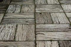 Vecchia via di legno Fotografie Stock