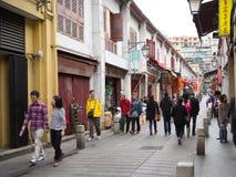 Vecchia via di Macao Fotografia Stock