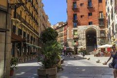Vecchia via di Madrid Immagine Stock Libera da Diritti
