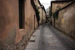 Vecchia via di pietra Immagine Stock