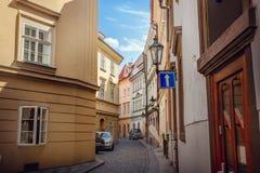 Vecchia via di Praga immagine stock
