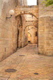 Vecchia via a Gerusalemme, Israele. Fotografia Stock Libera da Diritti