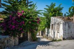 Vecchia via greca Fotografie Stock Libere da Diritti