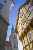 Vecchia via a Hildesheim Fotografia Stock