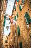 Vecchia via italiana Immagine Stock Libera da Diritti