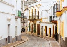 Vecchia via a Jerez de la Frontera, Spagna Fotografia Stock Libera da Diritti