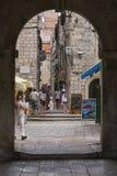Vecchia via in Korcula Fotografia Stock