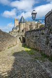 La Cité, Carcassonne Fotografia Stock