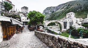 Vecchia via a Mostar Fotografie Stock