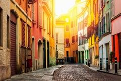 Vecchia via a Parma Fotografia Stock Libera da Diritti