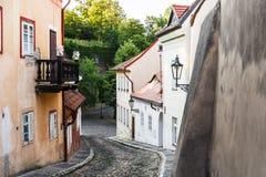 Vecchia via piacevole a Praga & x28; Praha& x29; Immagini Stock Libere da Diritti