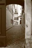 Vecchia via a Praga Fotografia Stock Libera da Diritti