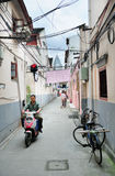 Vecchia via a Schang-Hai Immagini Stock Libere da Diritti
