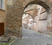 Vecchia via a Sibiu Romania Fotografie Stock Libere da Diritti