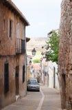Vecchia via, Siguenza, Spagna Fotografia Stock