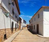 Vecchia via stretta del EL Toboso Fotografie Stock