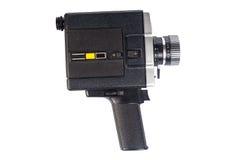 Vecchia videocamera isolata su bianco Fotografia Stock Libera da Diritti