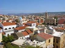 Vecchia vista aerea della città di Chania Fotografie Stock Libere da Diritti
