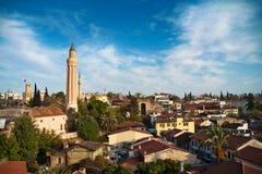 Vecchia vista della città di Antalya Fotografie Stock